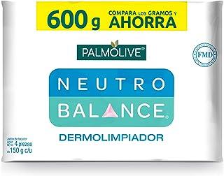 Palmolive, Neutro Balance Jabón de Tocador Dermolimpiador en Barra, 150 g, 4 Piezas