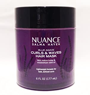 Nuance Salma Hayek Blue Agave Curls & Waves Hair Mask 6 Fl Oz