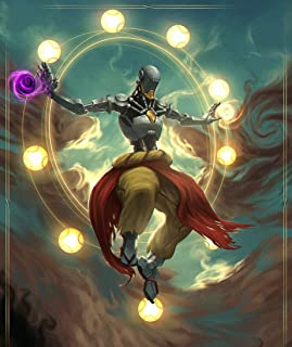 XXW Artwork Overwatch Zenyatta Poster Character/Support type Prints Wall Decor Wallpaper