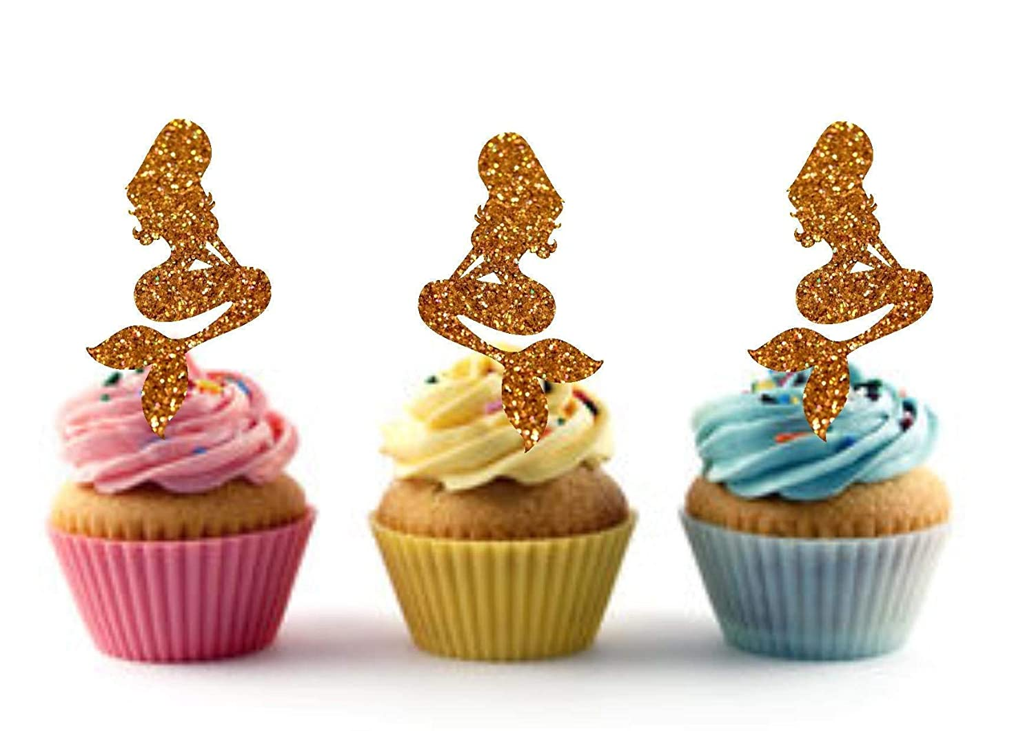 Indefinitely Mermaid Cupcake Toppers for Birthday Little Ariel Party OFFicial mail order