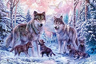 Diamond Painting Wolf Kits for Adults by LUHSICE, 45x65cm