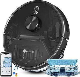 Staubsauger Roboter,Neatsvor X600 Saugroboter mit Laser Navigation,4000Pa,Selbstaufladung,WiFi/App/Alexa,Saug-Wischroboter mit Raumkarte,Reinigungs Roboter für Harter Boden,niedrigflorige Teppiche