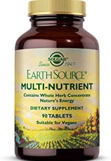 Solgar Earth Source Multi-Nutrient Tablets Providing Whole Food Concentrates, 90 Tablets - Contains Vitamins A, C, E & Mor...