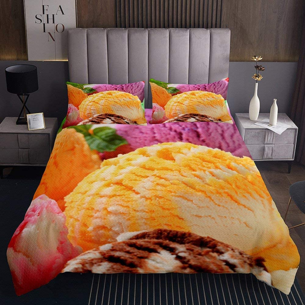 Opening large release sale Delicious Desserts Bedding Cover Bedspread for Kids King B Selling rankings Adult