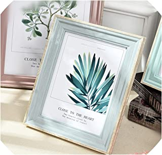 5 Sizes Rectangle Pictures Frames Resin Desk Table Decor Photo Frame with Transparent Organic Glass Wedding Family Photo Frames,Dianyashuijinglan,6 inch
