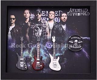RGM9049 Avenged Sevenfold Colección de guitarra en miniatura en marco de Shadowbox