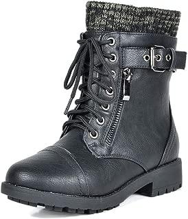 DREAM PAIRS Girl's Mid Calf Combat Boots