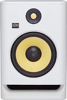 """KRK RP8 Rokit 8 G4 Professional Bi-Amp 8"""" Powered Studio Monitor, White Noise"""