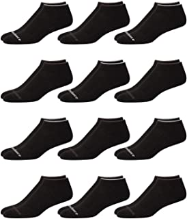 Men's Athletic Arch Compression Cushioned Low Cut Solid Socks (12 Pack)