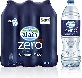 Al Ain Zero, Bottled  Drinking Water - 1.5 litre (Pack of 6)