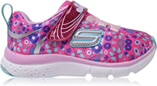 Skechers Jump Lites Trainers Infant Girls Runners Cushioned Pink/Multi