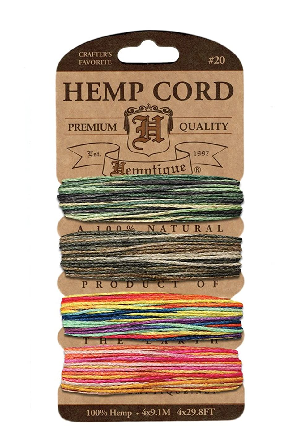 Hemptique H20-MFEST Hemp Cord Card 20 - Metallic Festive Occasion umotddlkipk3