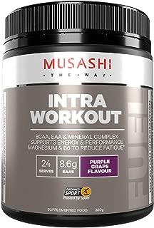 MUSASHI(ムサシ)INTRA WORKOUT 必須アミノ酸 & BCAA パウダー350g / グレープ味 [海外直送品]