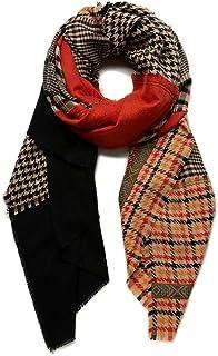 Desigual Foul_Mildred Patch Bufanda de moda, Red, U para Mujer