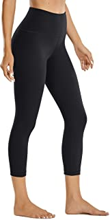 CRZ YOGA Women's Matte High Waisted Leggings Capri Yoga Pants Tummy Control -21 Inches