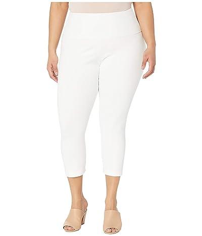 Lysse Plus Size Denim Capri (White) Women