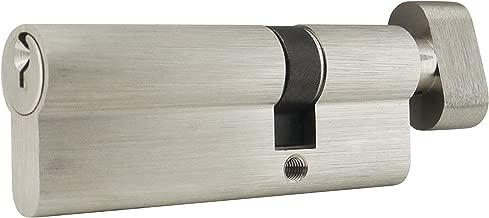 INOX CYEU-5035TK-15 Euro Cylinder Schlage C Keyway, Key & T-Turn, Satin Nickel