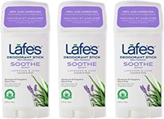 Lafe's | Soothe - Lavender & Aloe - Aluminum Free Natural Deodorant Stick for Women & Men | Vegan, Cruelty Free, Gluten Fr...