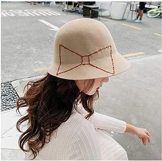 QinMei Zhou 2018 New Elegant Women Fedoras Wool Felt Hat Floral Bow Dome Bucket Autumn Winter Hats