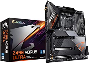 GIGABYTE Z490 AORUS Ultra (Intel LGA1200/Z490/ATX/Intel 2.5G LAN/3xM.2 Thermal Guard/SATA 6Gb/s/USB 3.2 Gen 2/Intel Wi-Fi ...
