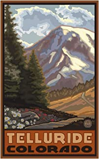 Telluride Colorado Springtime Mountains Travel Art Print Poster by Paul A. Lanquist (12