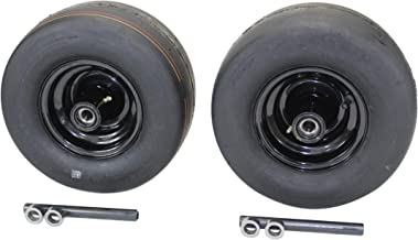 (Set of 2) 13x6.50-6 4 Ply Smooth with 6x4.5 Black Wheel Assembly