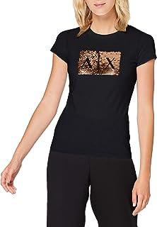 تي شيرت اساي للنساء بشعار على الصدر من ارماني اكستشنج