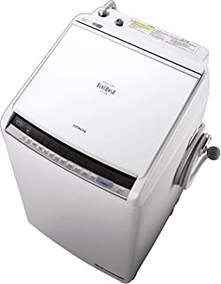 日立 全自動洗濯乾燥機 ビートウォッシュ 洗濯8kg/洗濯~乾燥4.5kg 本体幅57cm 日本製 大流量ナイアガラビート洗浄 洗濯槽自動おそうじ BW-DV80C W