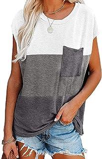 GOSOPIN Women Casual Striped Tunic Tops Long Sleeve Loose Fit Button Blouse Shirt