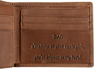 Genuine Leather Personalized Bifold Wallet for Men, RFID Blocking Wallet for Dad, Father's Day Gifts (Dad Gifts from Daughter)