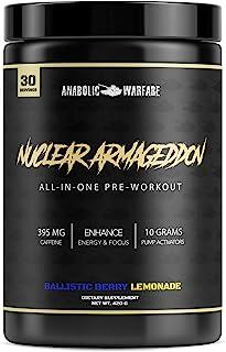 Nuclear Armageddon Pre Workout Powder by Anabolic Warfare – Pre-Workout for Men & Women with L-Citrulline, Beta Alanine Po...
