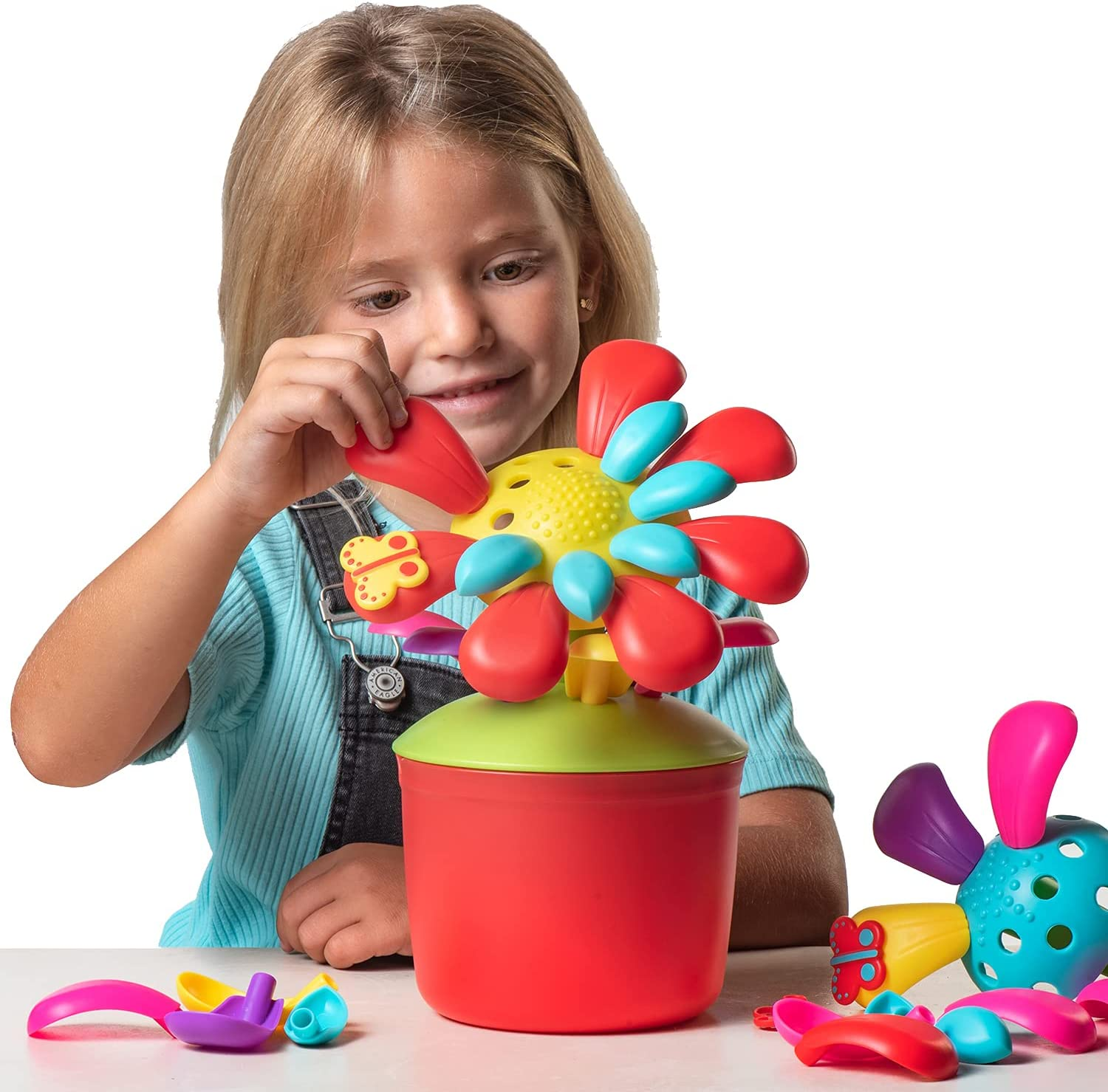 FlowerPop Flower Building Toy Set – Ages 3 4 5 6 7, 40 Pc | Build a Garden Flower Building STEM Toy | Develops Creativity, Fine Motor Skills – Gifts for Girls & Boys | Multiple Combinations by Toypix