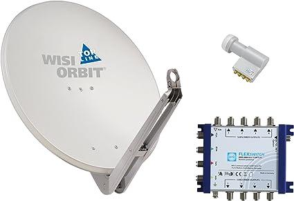 Wisi Satellitenschüssel Set Basaltgrau 85 Cm Für Elektronik