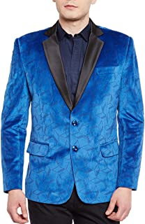 WINTAGE Men's Premium Velvet Notch Lapel Tuxedo Coat Blazer Jacket