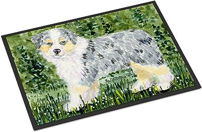 """Caroline's Treasures SS8846MAT Australian Shepherd Indoor Outdoor Doormat, 18"""" x 27"""", Multicolor"""