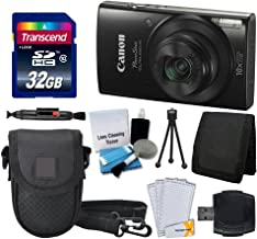 Canon PowerShot ELPH 190 Digital Camera (Black) + Point & Shoot Camera Case + Transcend 32GB SD Memory Card + Extra Battery & Worldwide Travel Charger + Top Value Accessory Bundle!