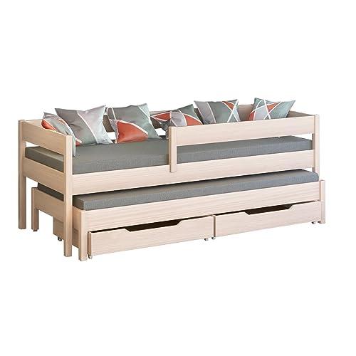 Cama individual Jula para niños, con nido Cajones incluidos. -, madera