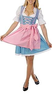 dirndl blau rosa Trachtenpoint Dirndl A446 mit Bluse und Schürze 3 teilig