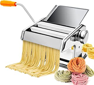 Pasta Maker Machine, Manual Stainless Steel Noodles Maker, Household Noodle Machine Small Multi-Function Noodle Pressing M...