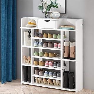 Vobajf Porte-Chaussures 7 Tier Shoe Racks Chaussures Armoire de Rangement Chaussures Rack avec tiroir de Rangement avec Fo...