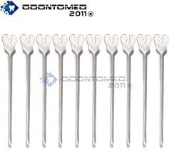 OdontoMed2011® 10 PCS GROOVED Director with Probe TIP and Tongue TIE 5