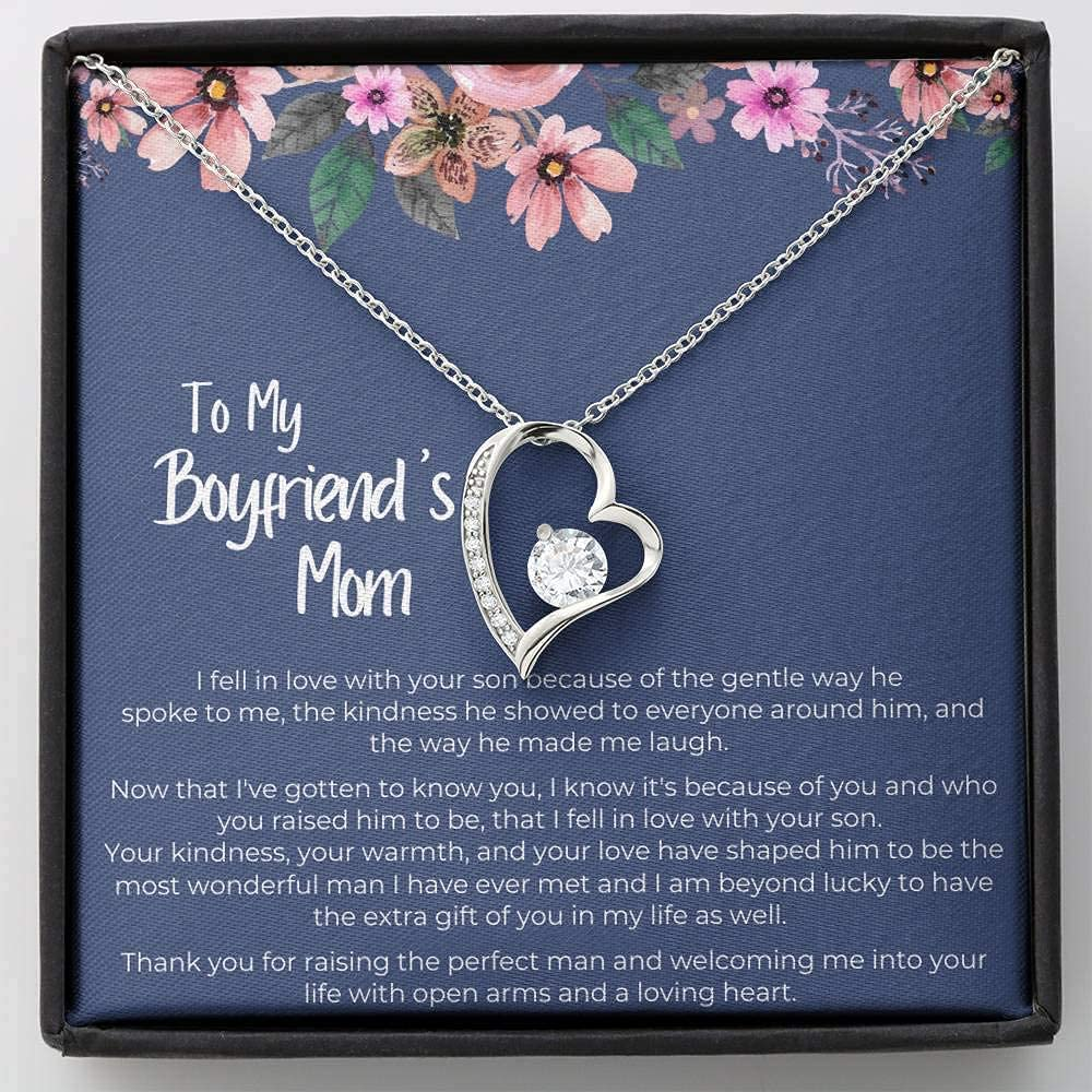 Boyfriend's Mom Necklace Presents For Raise Gifts Max 71% OFF Boy T Mother Super intense SALE