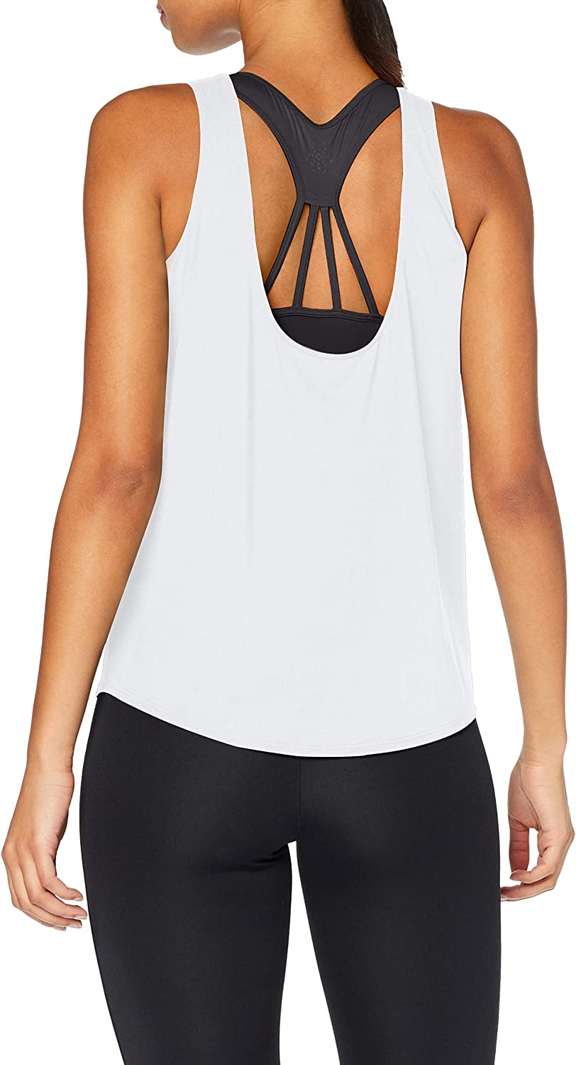 Brand AURIQUE Womens Double Layer Sports Tank Top
