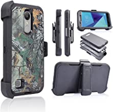 For LG Aristo 2/ LV3/ Tribute Dynasty/ Aristo 1 MS210/ K8 (2017)/ US215 [Four Layered Protection] Heavy Duty Defender Holster Armor Case with Built in Screen Protector (Camo)