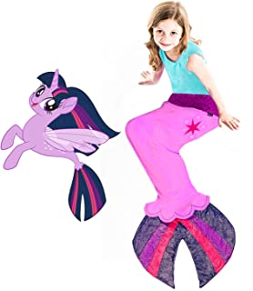 Seapony Blanket from My Little Pony - Beautiful MLP Twilight Sparkle Design with Cutie Mark - Perfect My Little Pony Gift