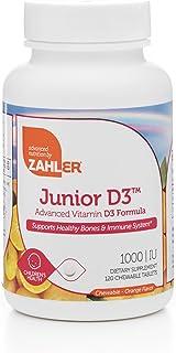 Zahler Junior D3 Chewable 1000IU, Kids Vitamin D, Great Tasting Chewable Vitamin D for Kids, Optimal Vitamin D3 1000 IU fo...