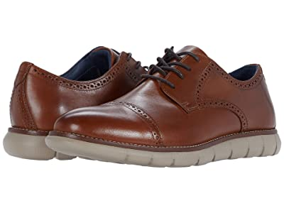 Johnston & Murphy Milson Cap Toe (Tan Full Grain Leather) Men