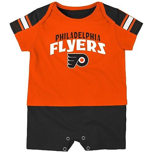 aa016cea6 NHL Philadelphia Flyers Boys Newborn   Infant Little Brawler Jersey Romper