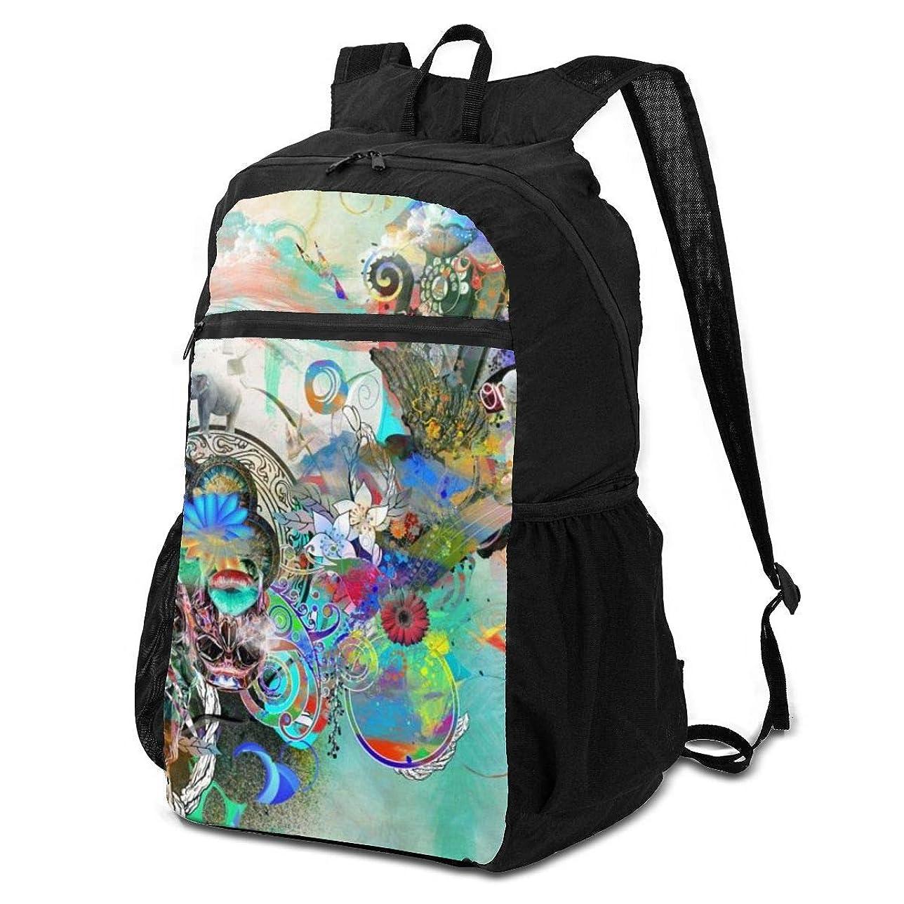 バラエティ誕生ロバ登山リュック ザック 抽象主義 バックパック 軽量 防水 通勤 小型旅行 折りたたみ式キャンプ アウトドアバッグ