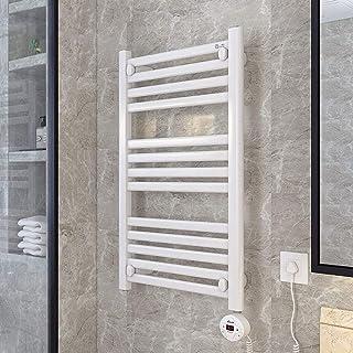 HYY-YY. Elektryczny podgrzewacz na ręczniki, stal nierdzewna, podgrzewany wieszak na ręczniki do łazienki z timerem, okrąg...